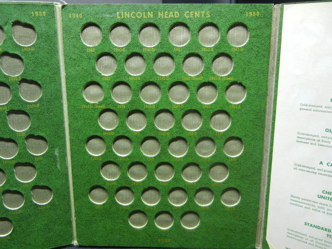 2 Lincoln Cent Coin Albums with 20 Wheat Cents - 10