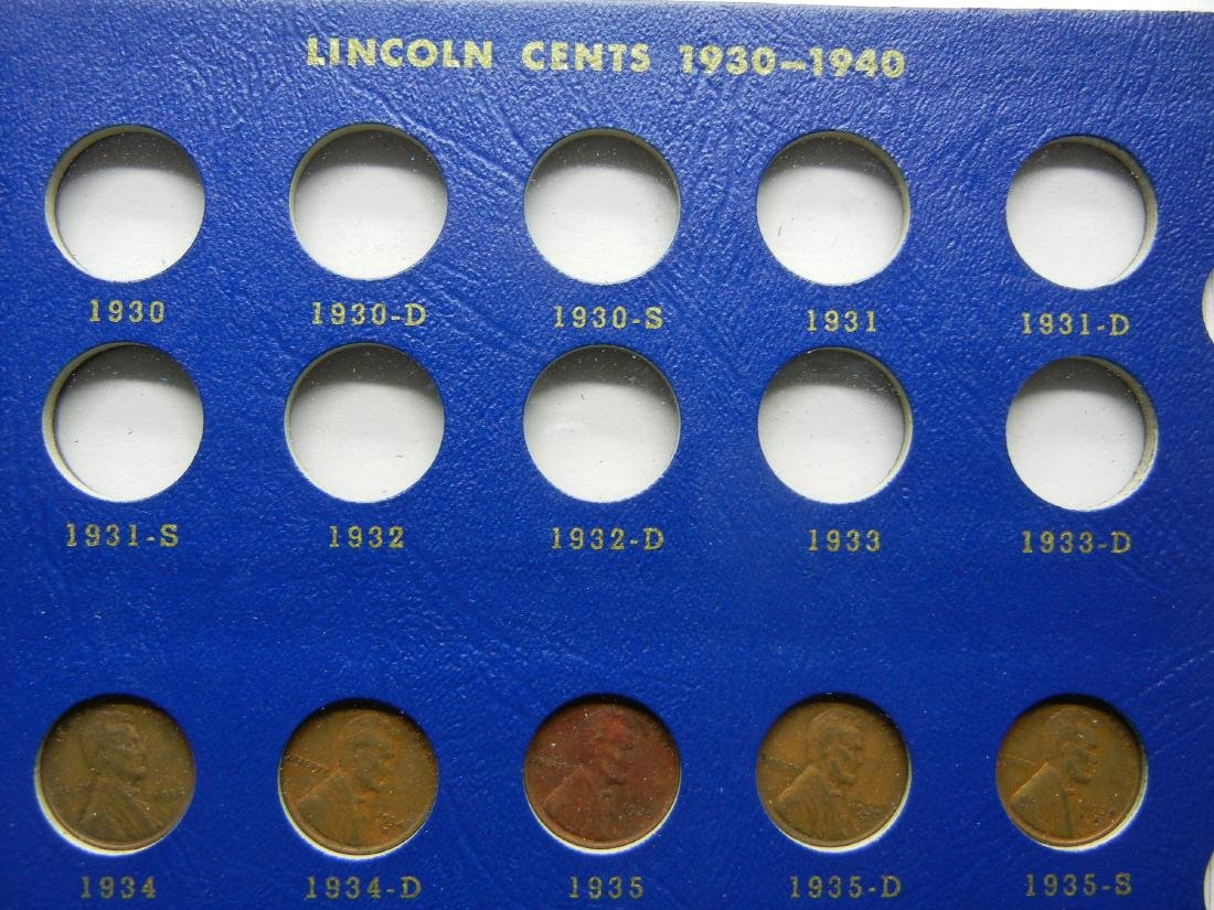 2 Lincoln Cent Coin Albums with 20 Wheat Cents - 4