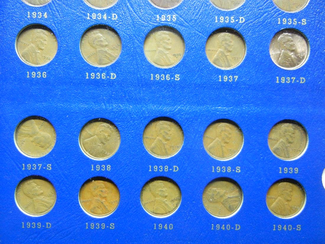 2 Lincoln Cent Coin Albums with 20 Wheat Cents - 5