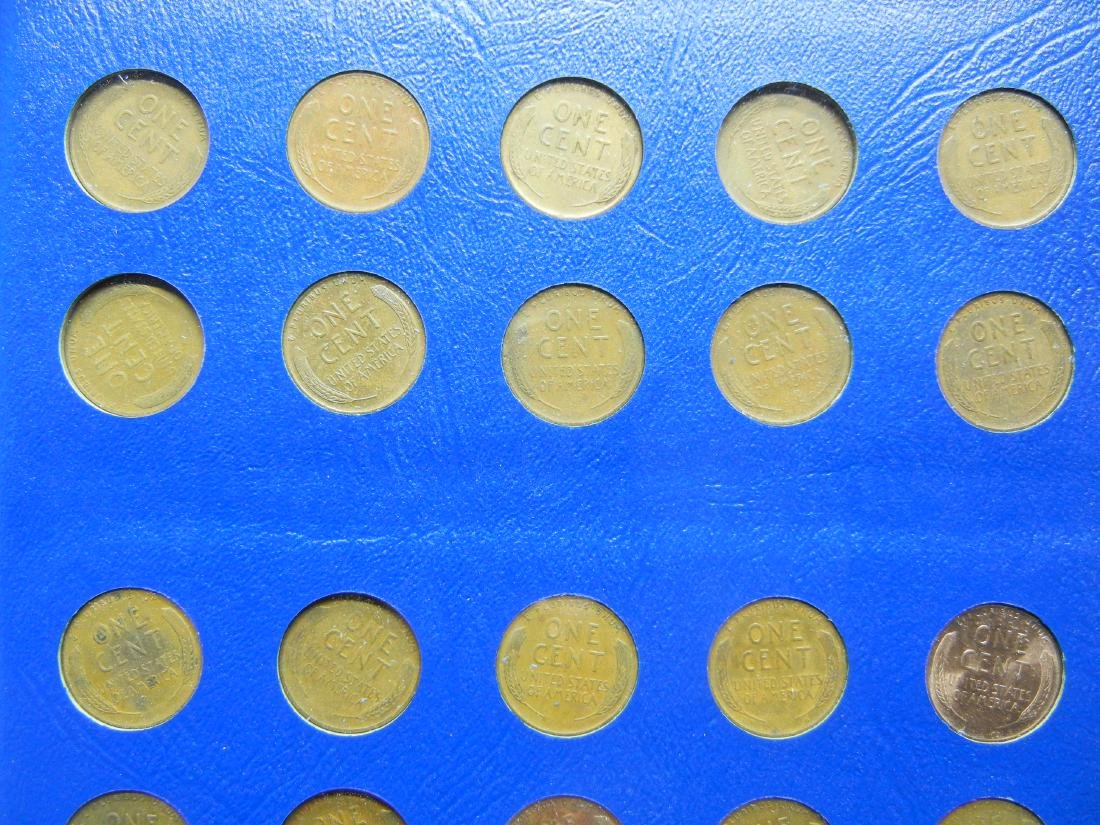2 Lincoln Cent Coin Albums with 20 Wheat Cents - 7