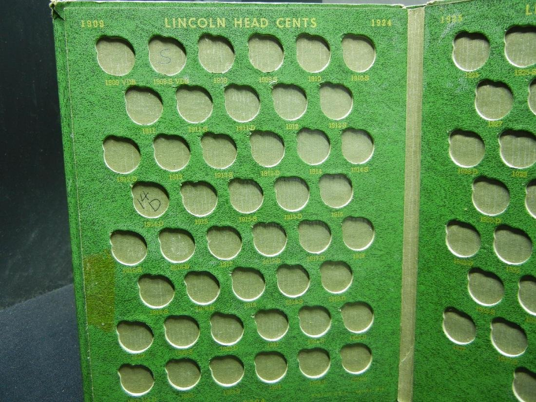 2 Lincoln Cent Coin Albums with 20 Wheat Cents - 8
