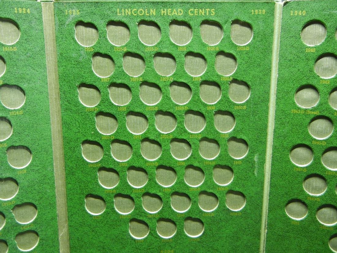 2 Lincoln Cent Coin Albums with 20 Wheat Cents - 9