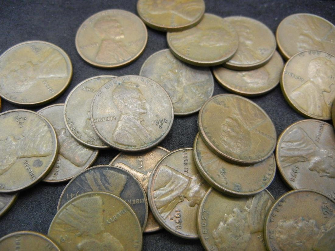 100 Lincoln Wheat Cents. - 3