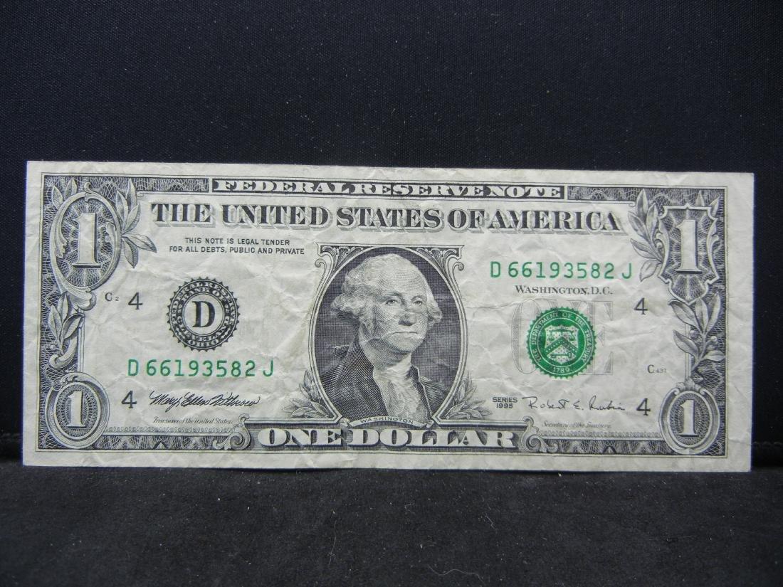 WACKY Reverse MISPRINNT ERROR $1.