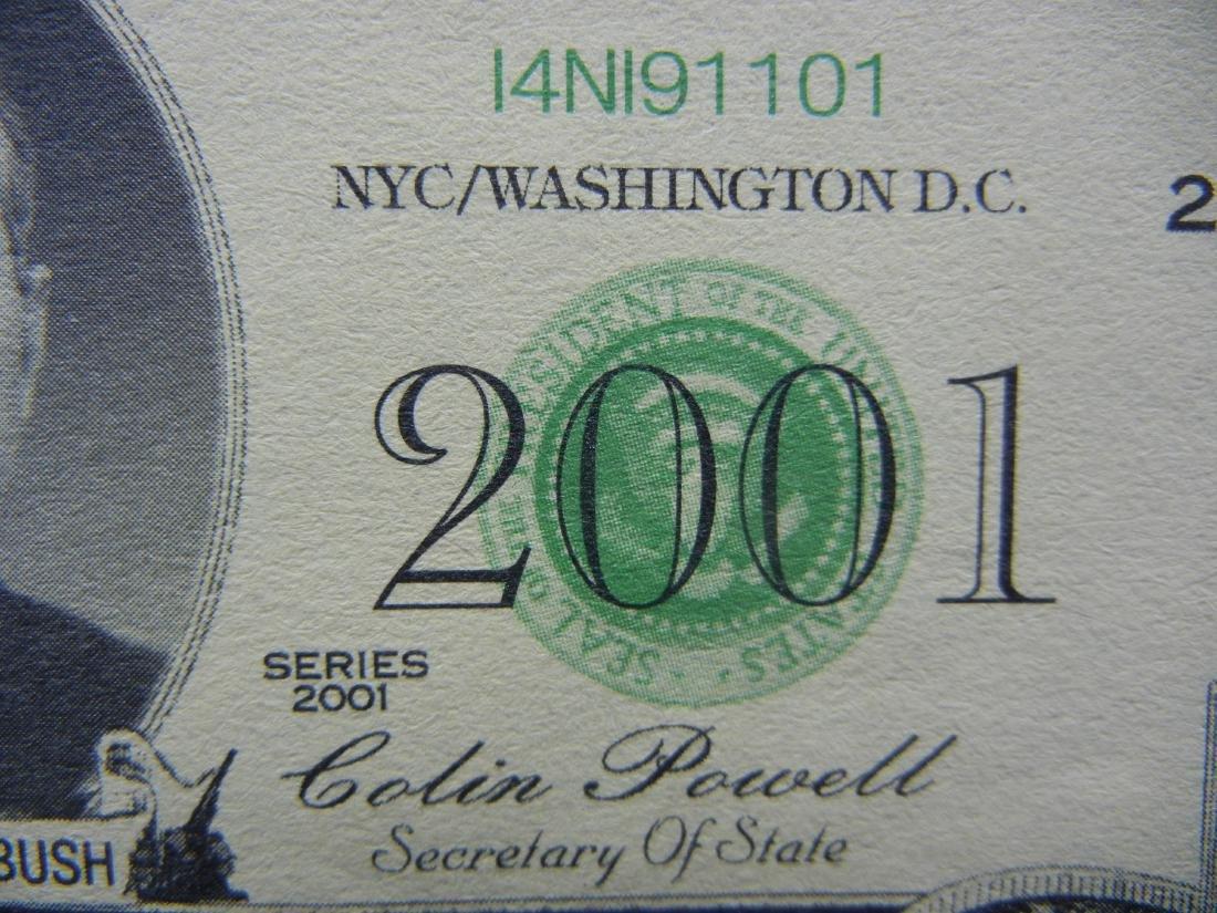 2001 Dollars Patriotic Novelty Note.  George Bush - 2