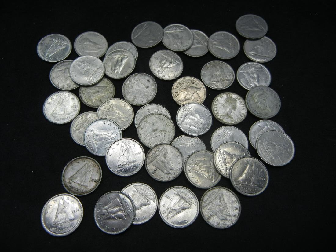 Lot of 1970's Canadian Dimes