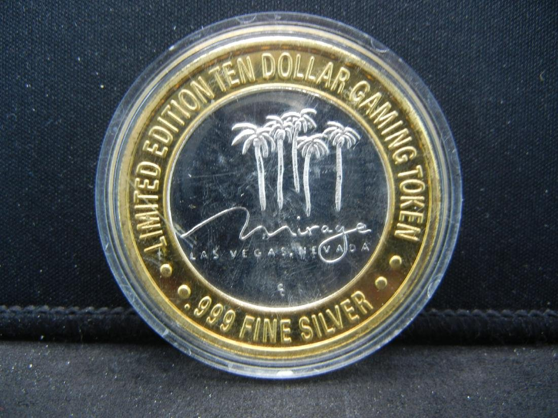 Limited Edition $10 Gaming Token Mirage .999 Silver