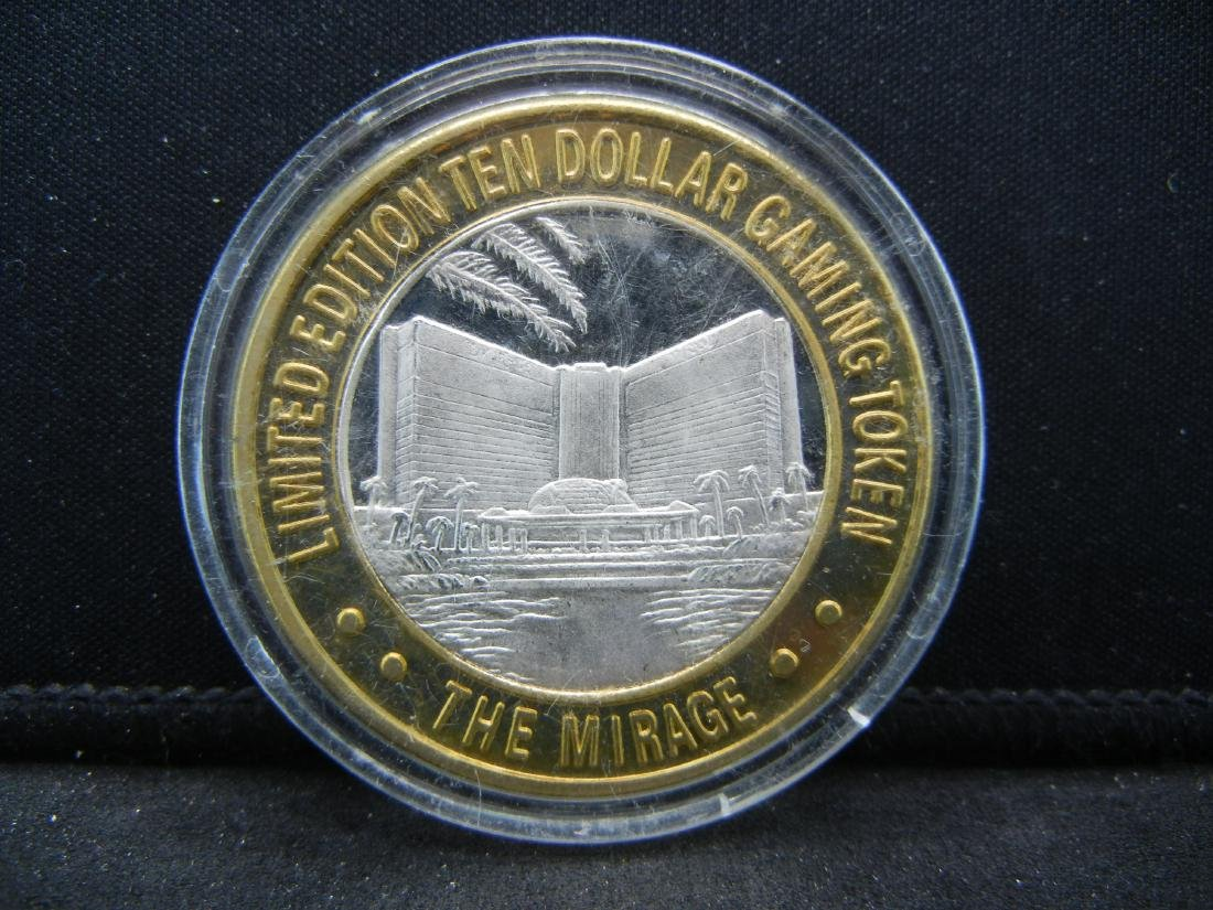 Limited Edition $10 Gaming Token Mirage .999 Silver - 2