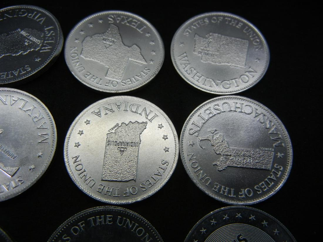Bag of US State Gas Station tokens. Collect em all! - 3