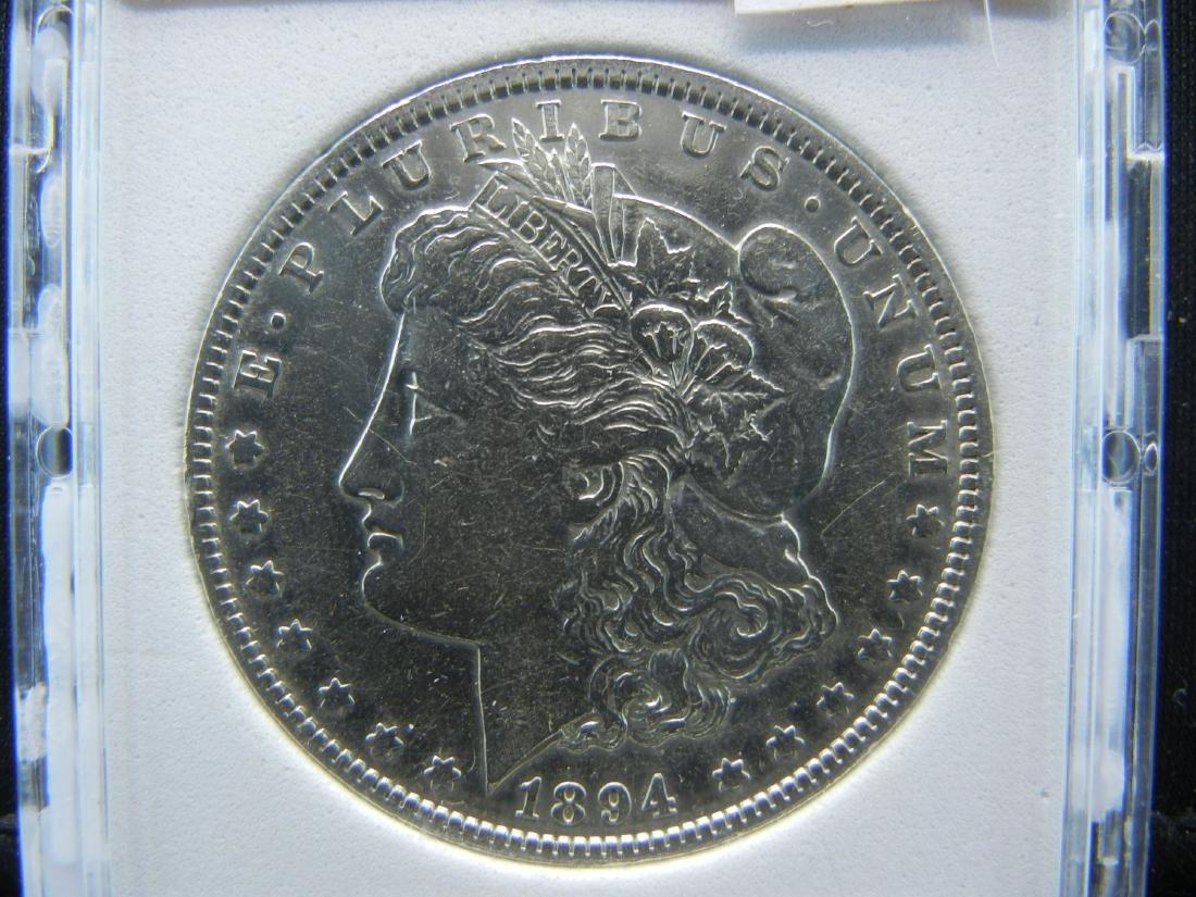 1894-O MORGAN SILVER DOLLAR, NPG MS64+. KEY DATE. - 2