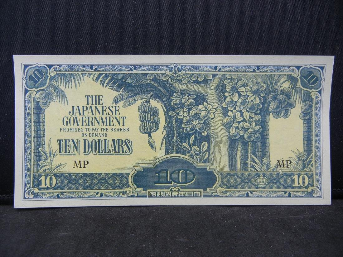 World War II Japanese 10 Dollars Malaya Occupation