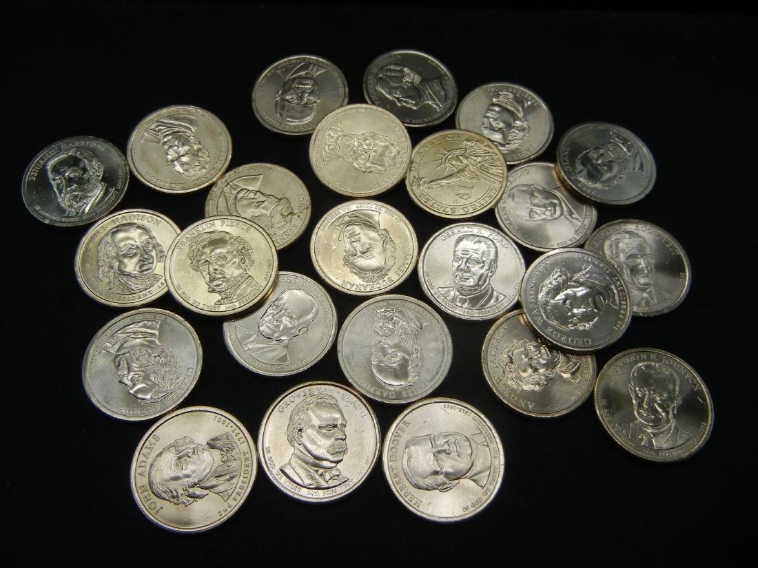 2007-2016 Presidential Dollar Set. 39 Coins. UNC 60