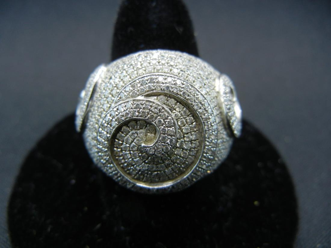 Vintage DIAMOND encrusted 925 silver ring. Serious