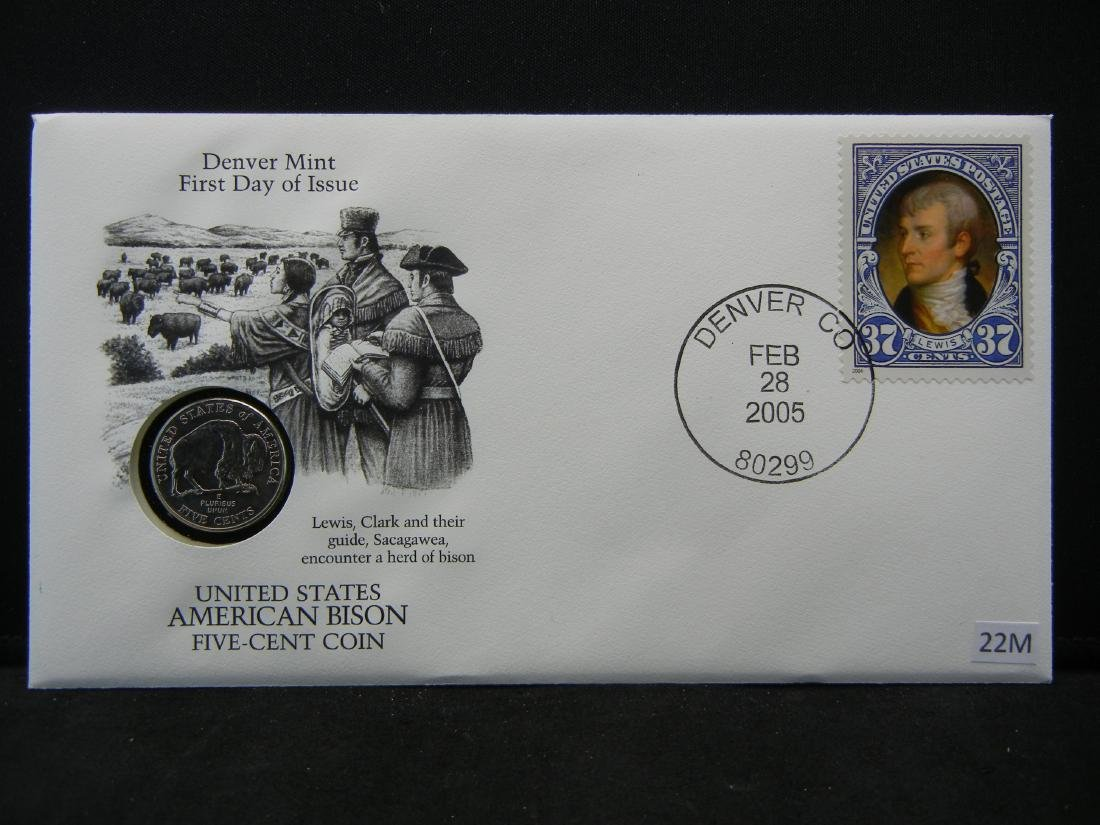 Denver Mint First Day of Issue Coin & Stamp Set
