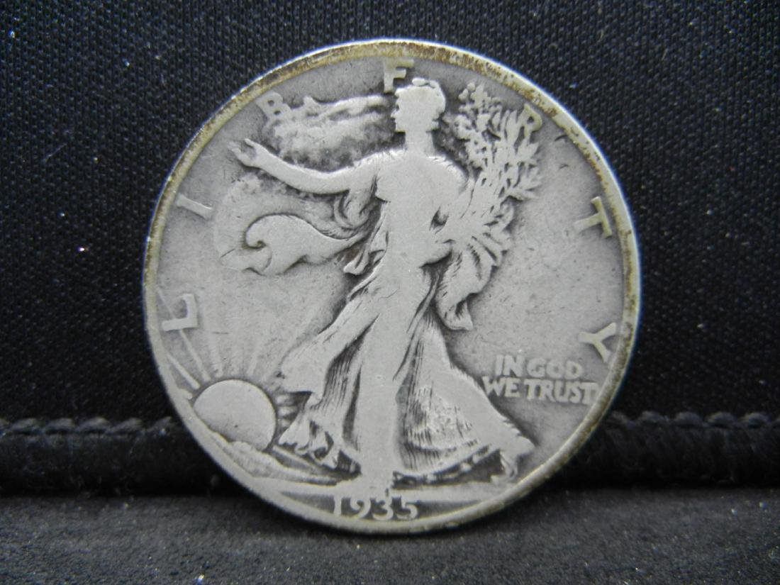 1935-S Walking Liberty Half Dollar