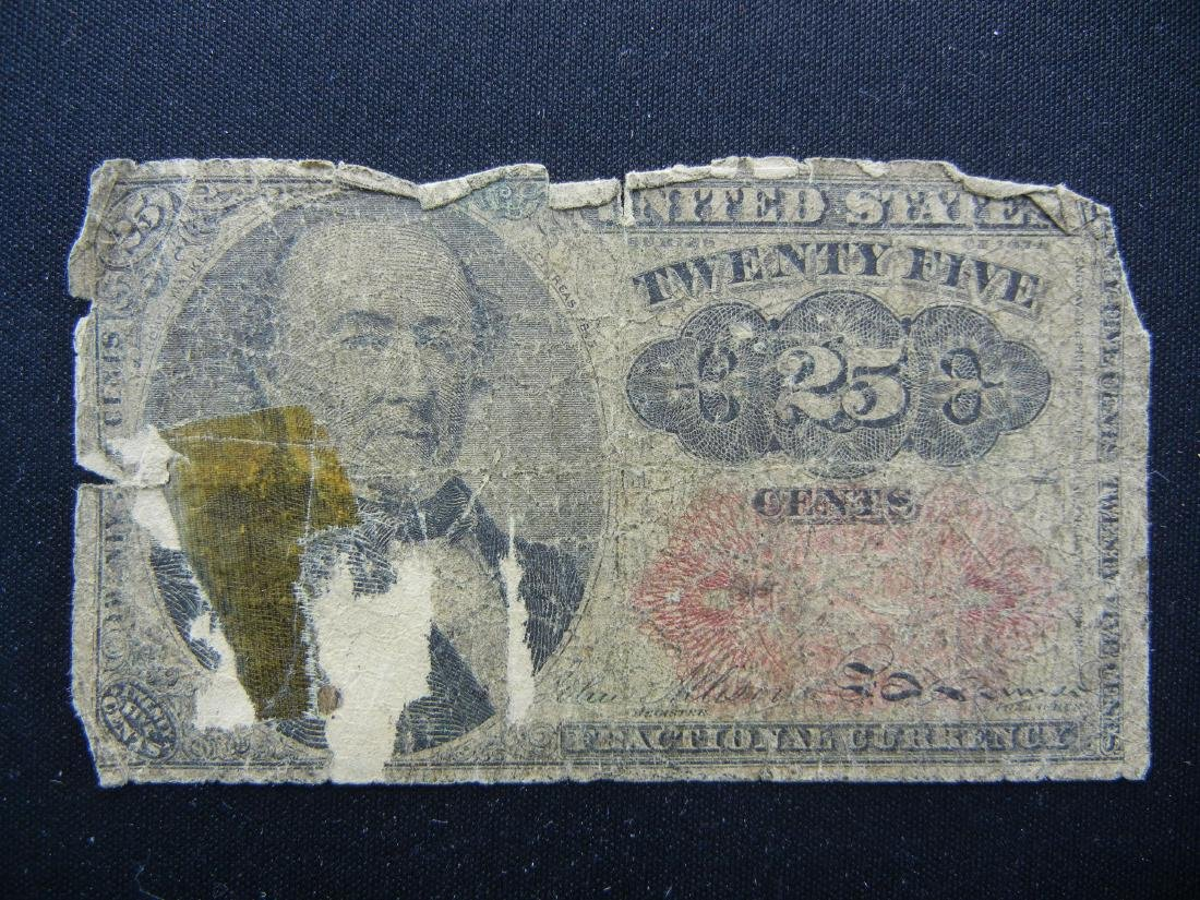 1874 25 cents US Fractional Currecny. RARE!