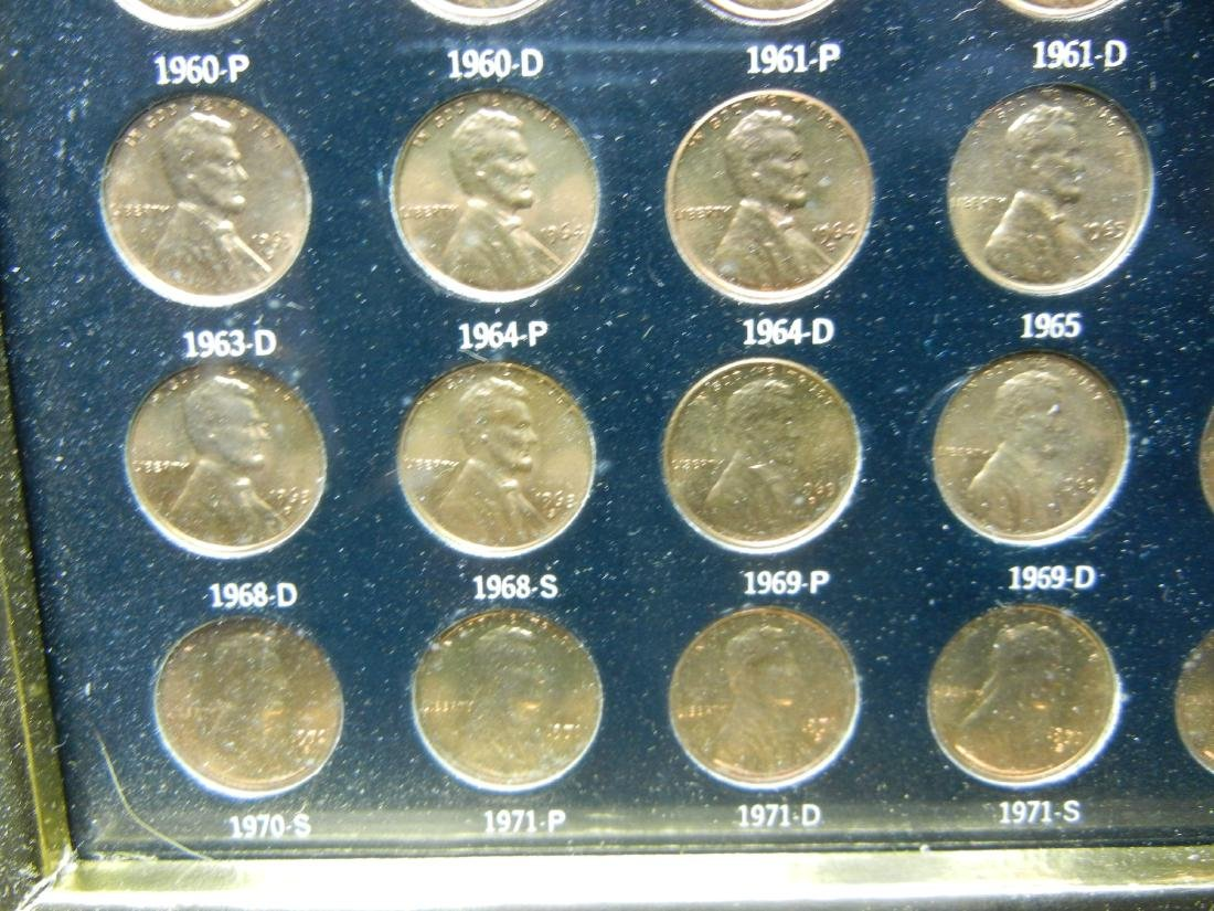 1958-1972 Wheat/Mem BU RED cent collection wallhanger. - 3