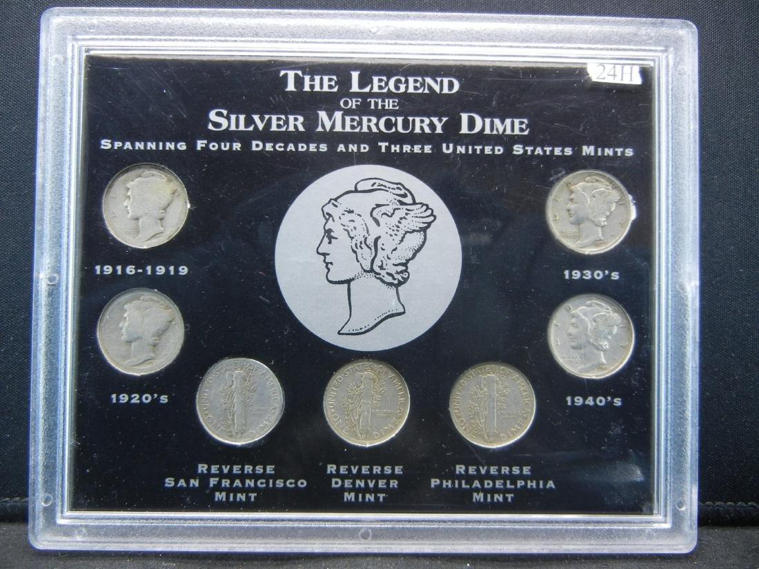 1916-1945 Silver Mercury Dime set. All decades! All