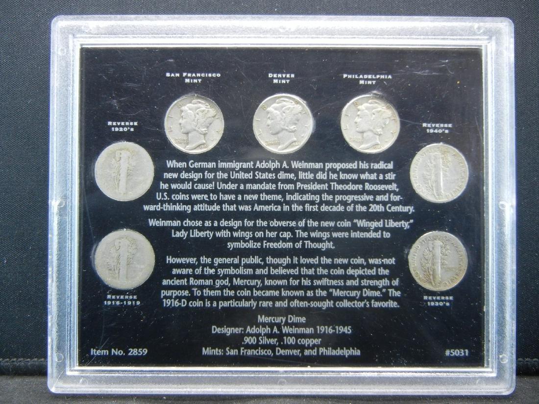 1916-1945 Silver Mercury Dime set. All decades! All - 2
