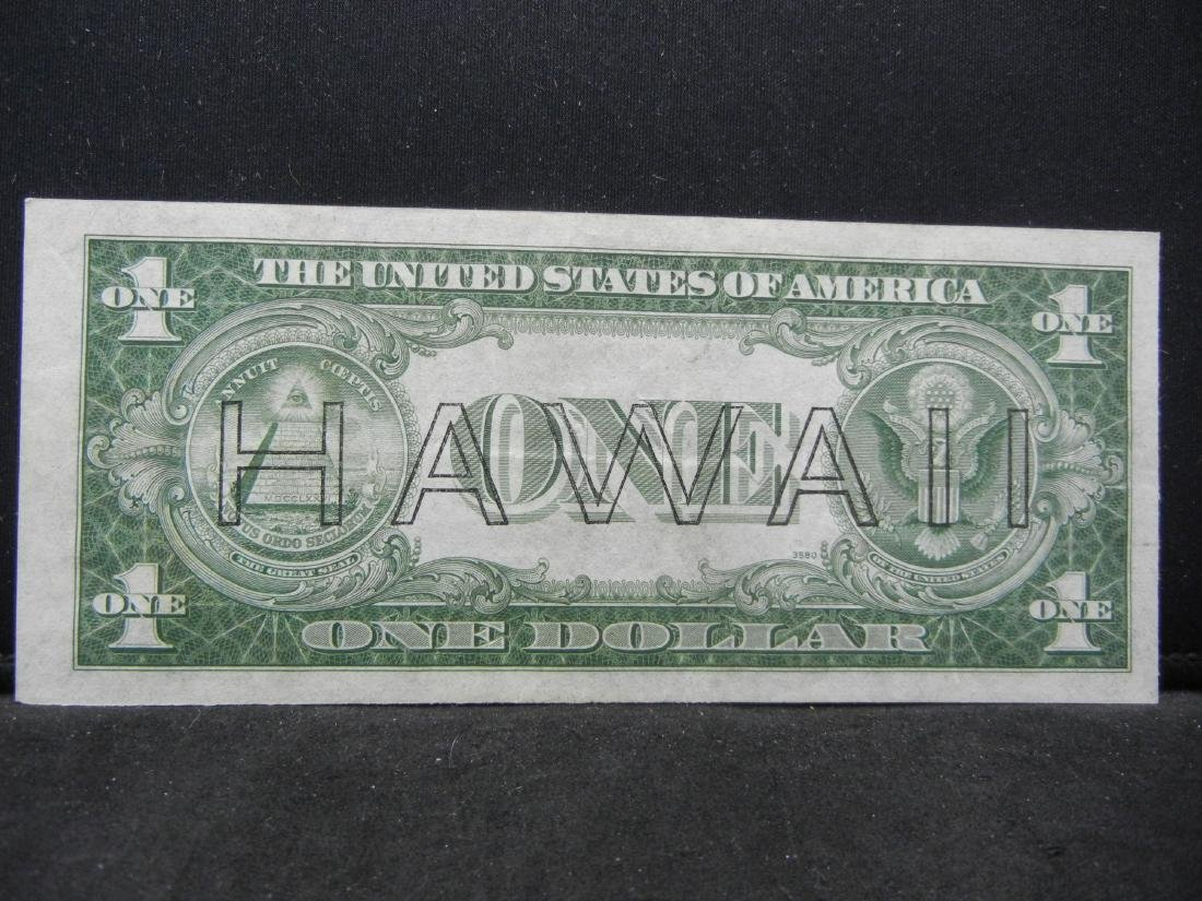 1935 A HAWAII Silver Certificate. AU58. barely a bend! - 3