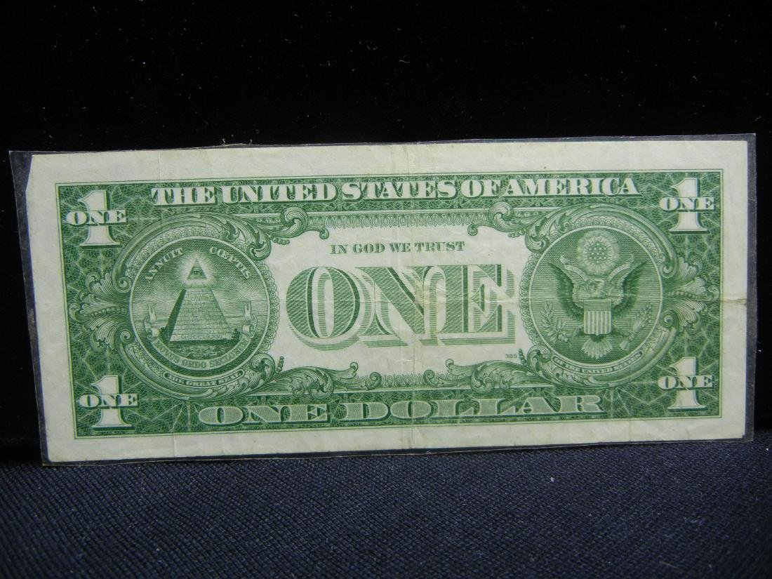 5-1957 $1 Blue Seal Silver Certificates. - 4