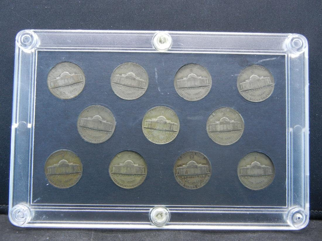 United States Wartime Silver Nickels Complete Set - 2