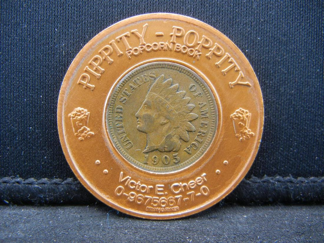 1905 Rexall Drug Encased Indian penny