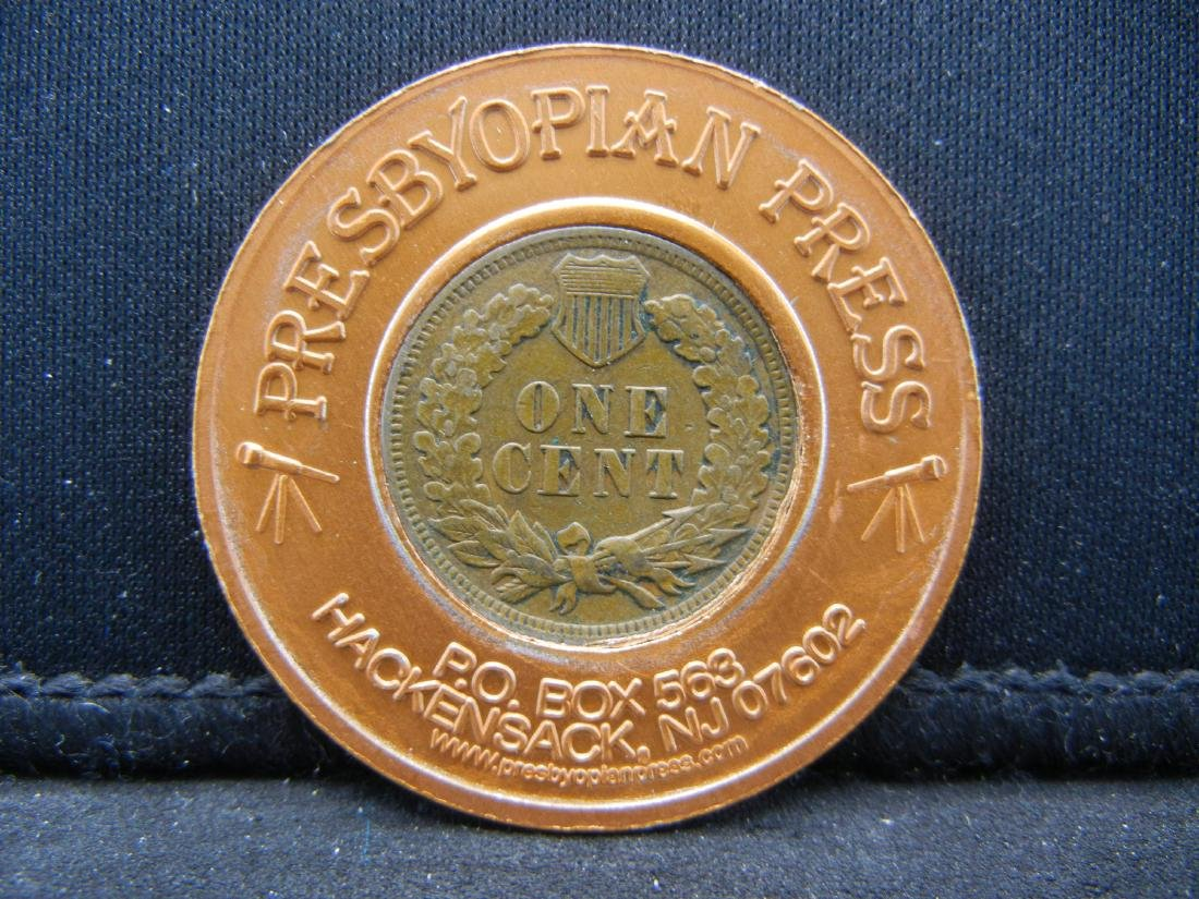 1905 Rexall Drug Encased Indian penny - 2