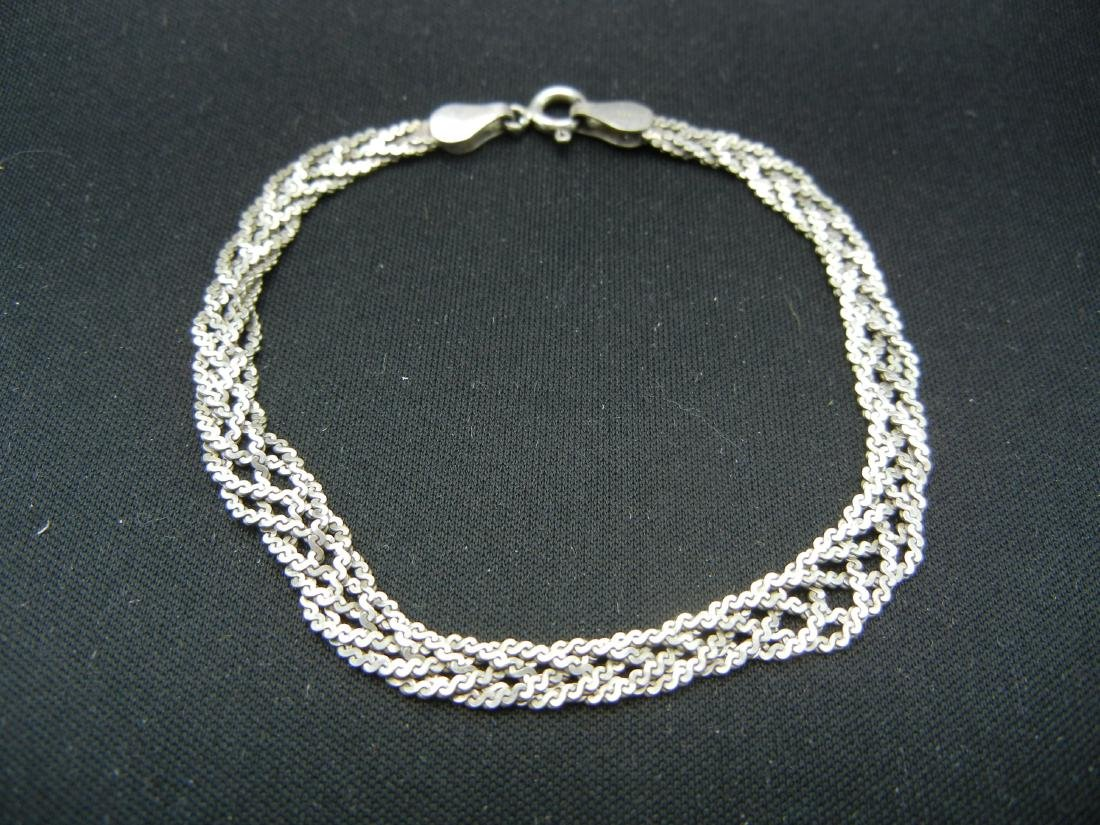 6 Inch Sterling Silver Bracelet.  Weighs 0.15 Troy