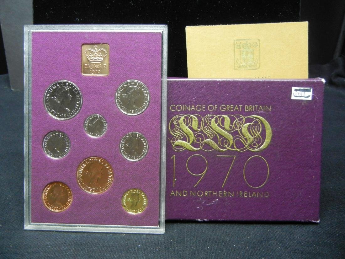 1970 British PROOF set. At least PR69! Orginal package.