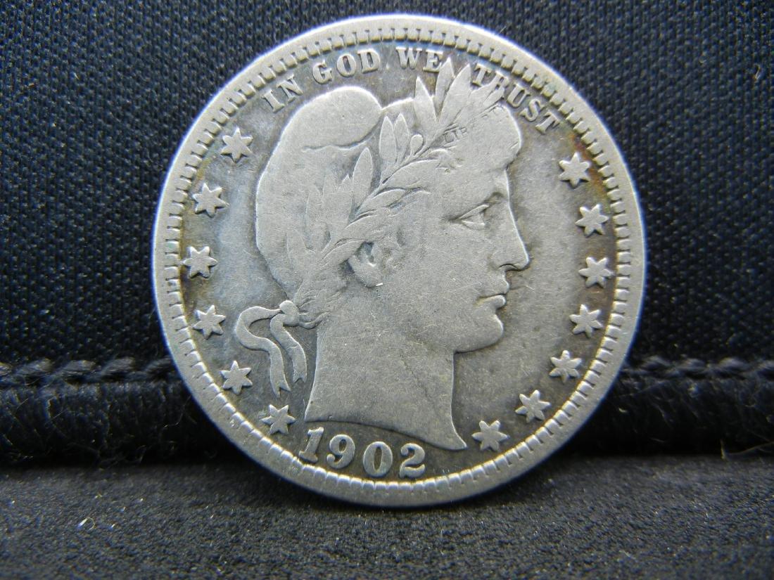 1902 Barber Quarter, Readible Liberty, Fine or Better