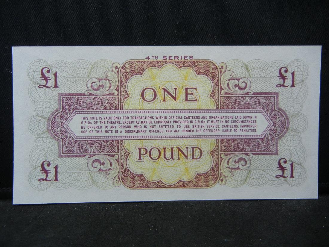 British Armed Forces 5 Pound Note Special Military - 2