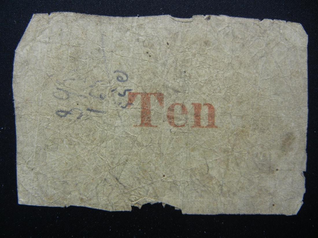 1862 CONFEDERATE South Carolina 10 cent note. Hand - 2