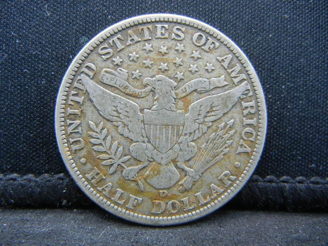 1915-D Barber Half Dollar, Readible Liberty, Fine or - 2