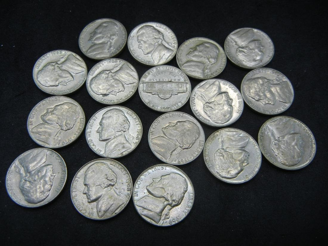 Lot of 1960's and 1970's Jefferson Nickels.