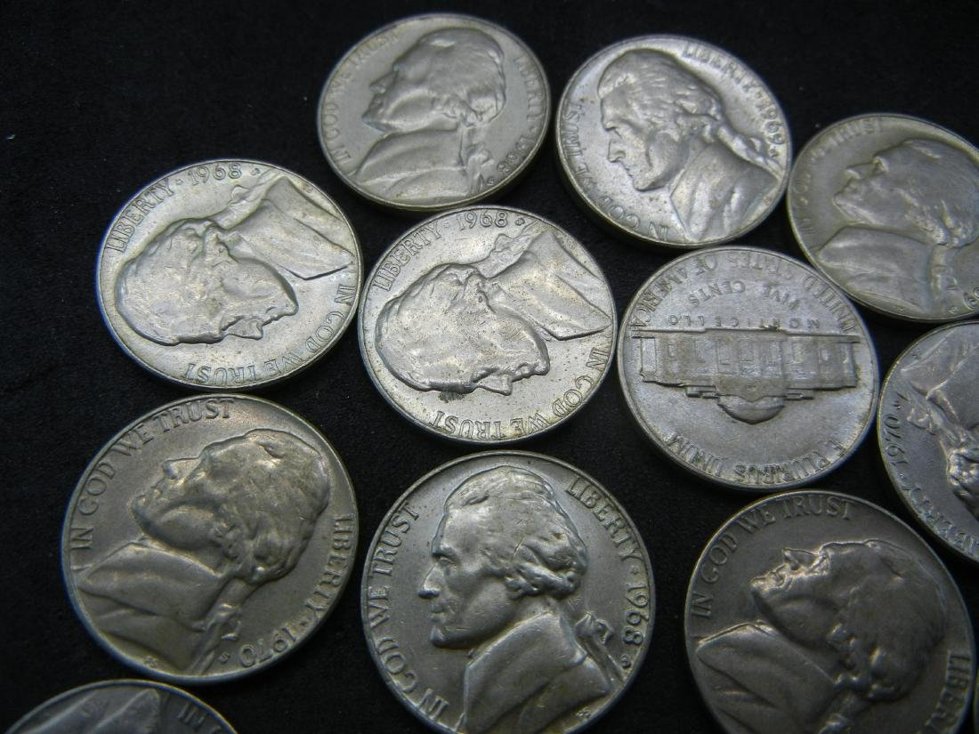 Lot of 1960's and 1970's Jefferson Nickels. - 2