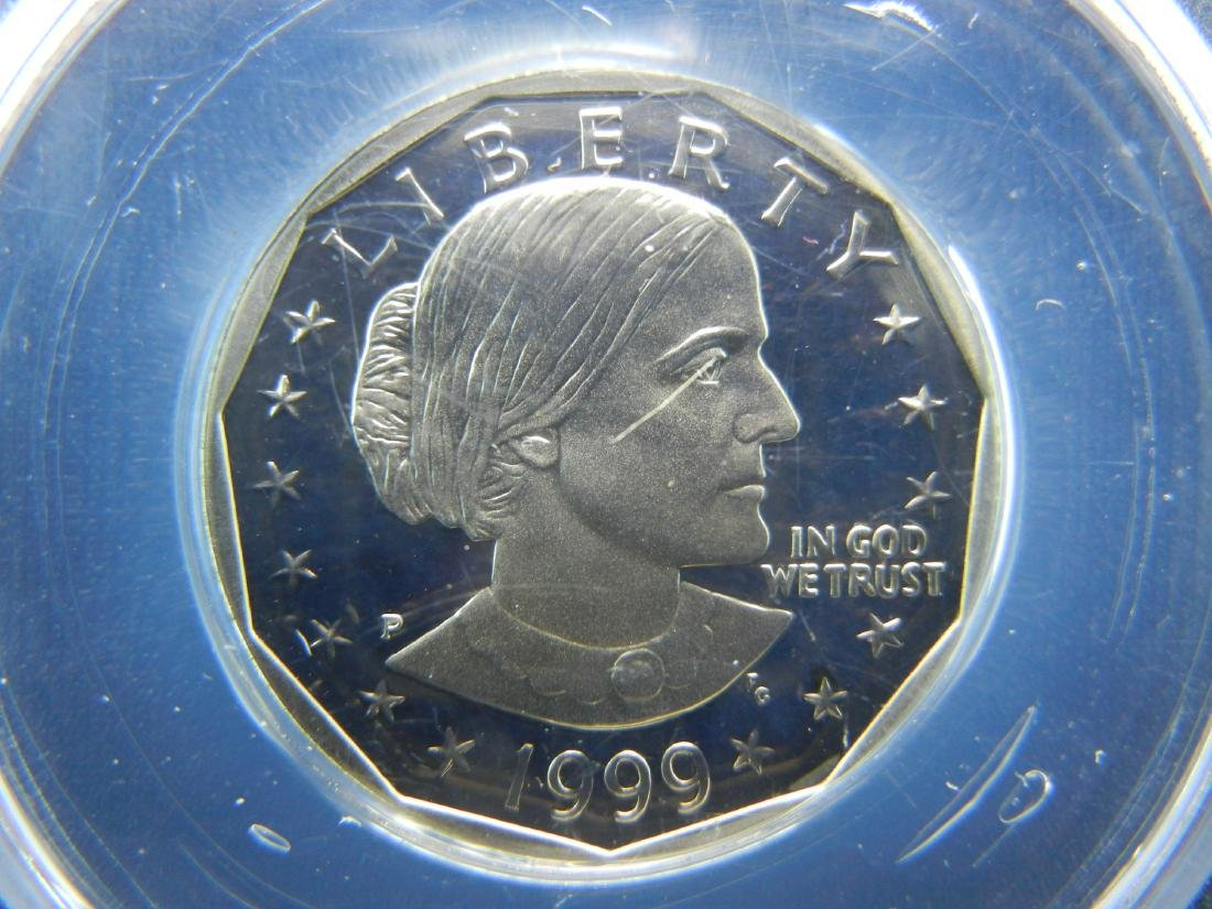 1999-P Susaan B Anthony Dollar. Graded by PCGS as PR69 - 2