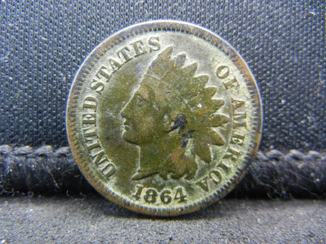 1864-L Indian Head Cent, Very Good Condition.