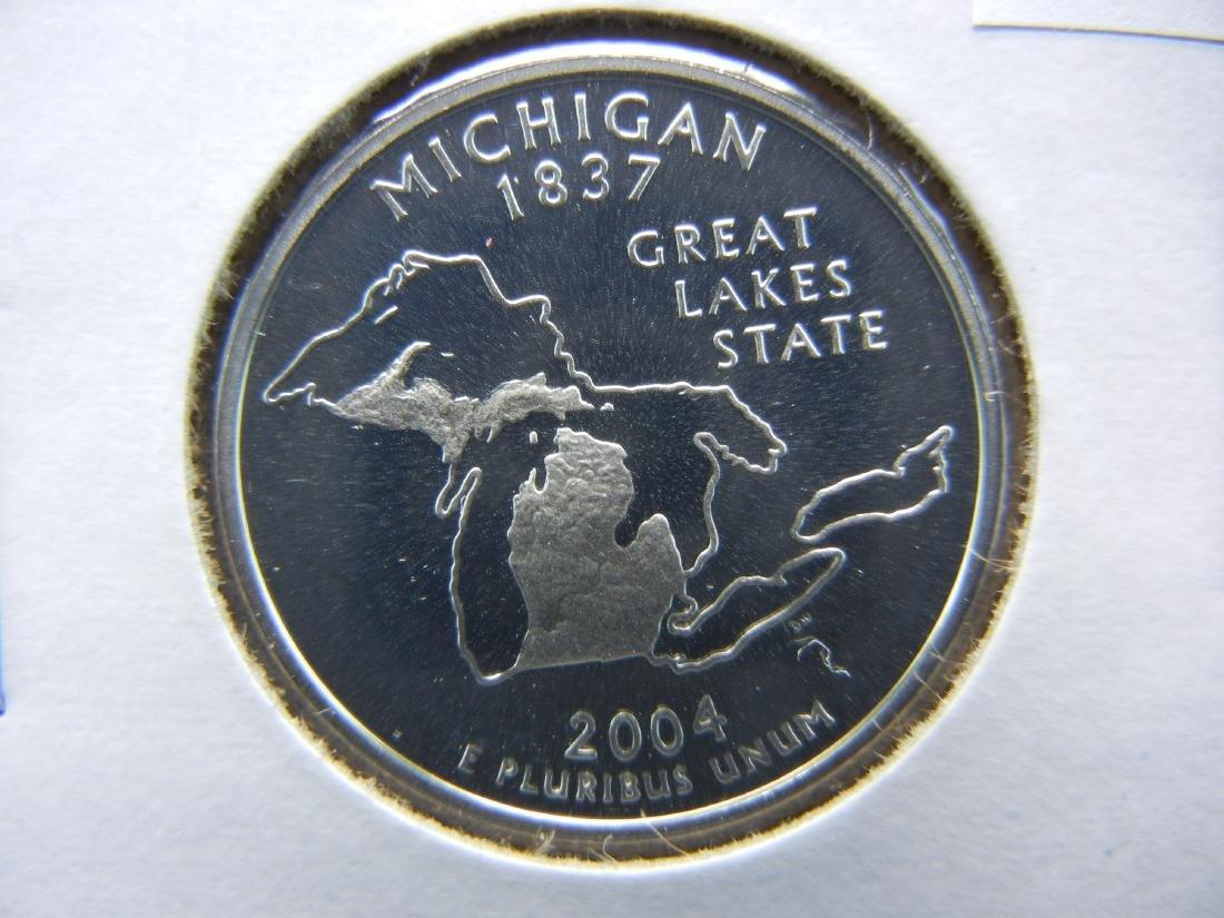 2004 S Michigan State Quarter Proof 90% Silver