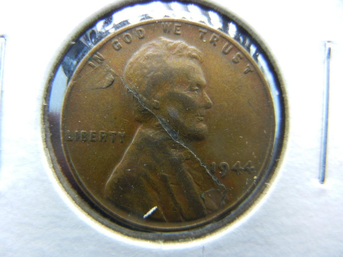 1944 GIANT DIE CRACK Wheat cent ERROR!