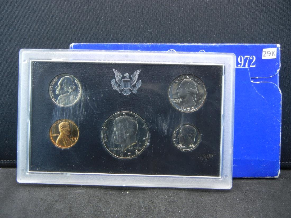 1972 United States Mint 5-Coin Proof Set With Original