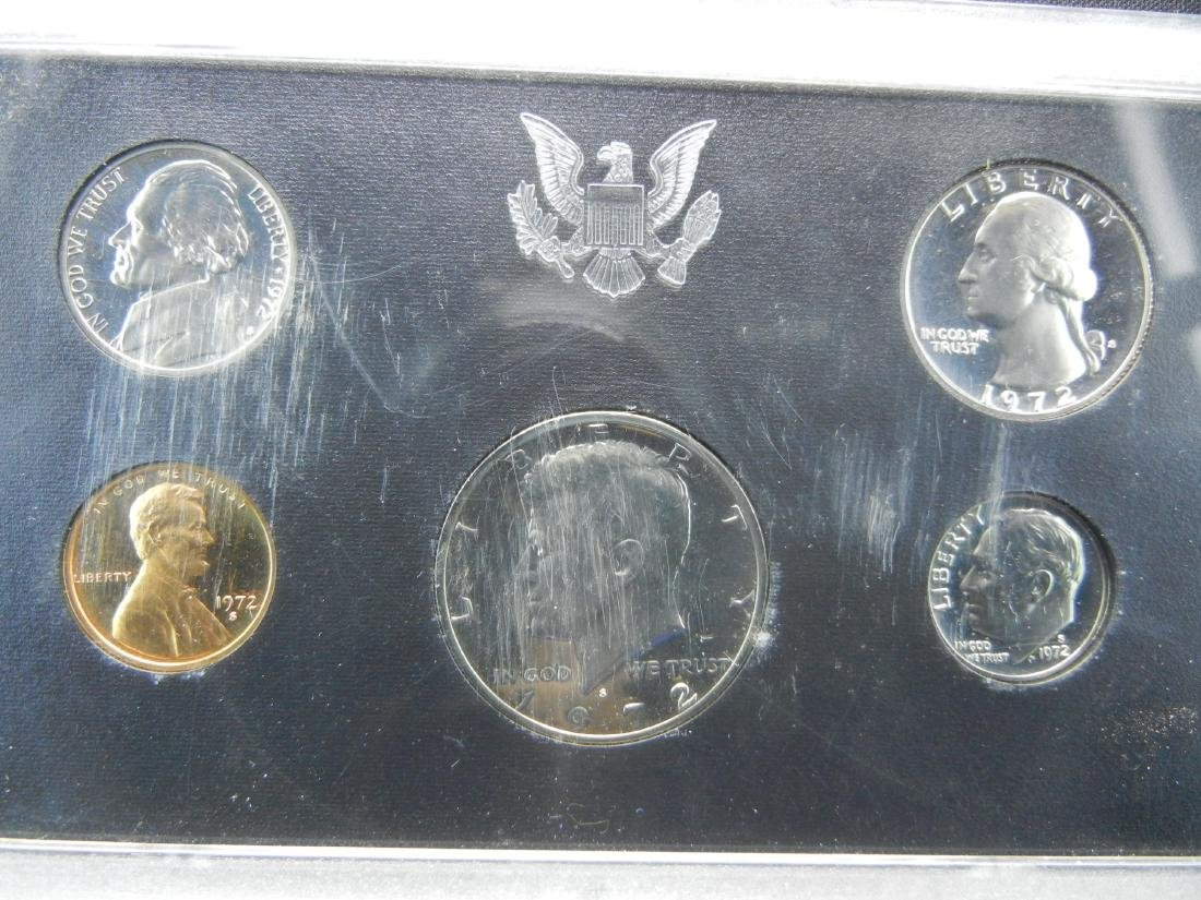 1972 United States Mint 5-Coin Proof Set With Original - 2