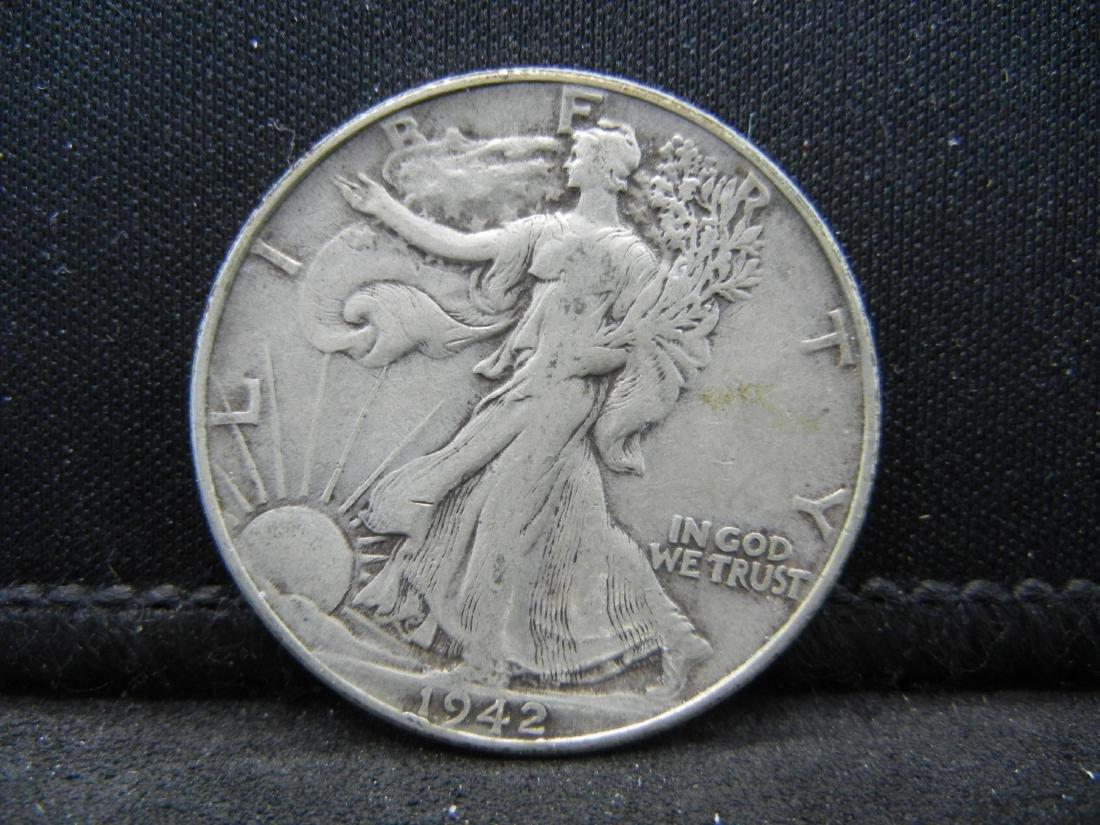 1942 Walking Liberty Half Dollar