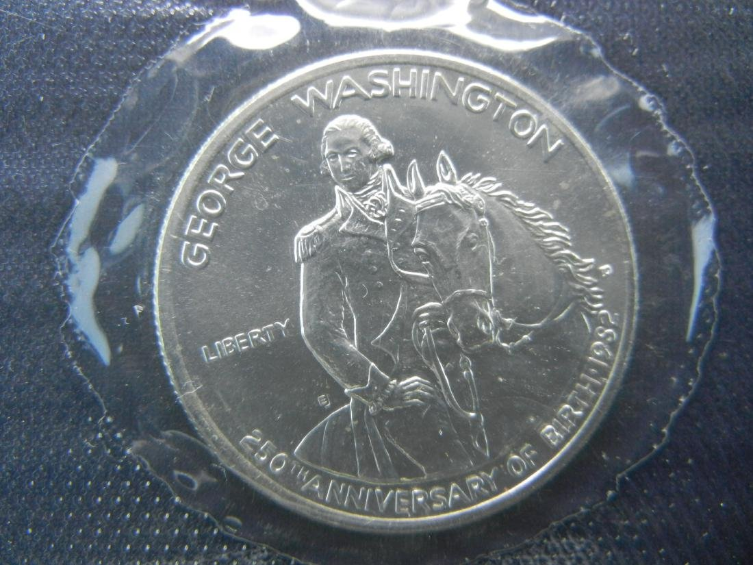 1982-D Washington Mt Vernon Silver 1/2 Dollar. Govt