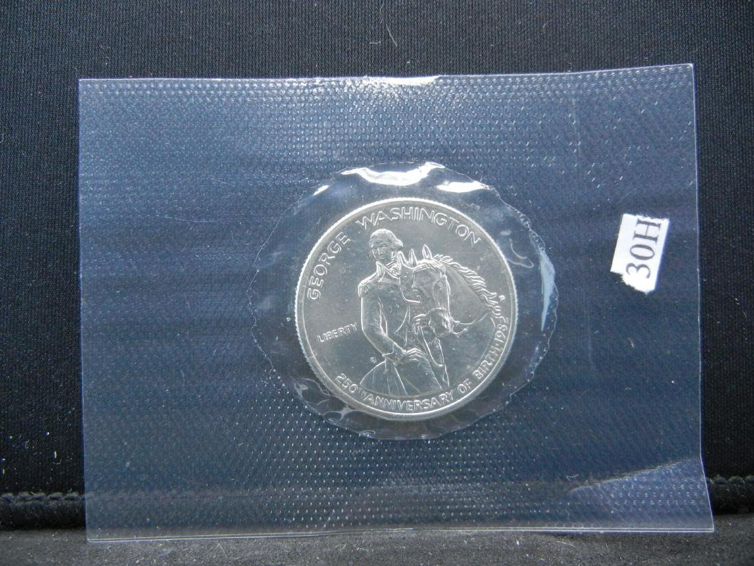 1982-D Washington Mt Vernon Silver 1/2 Dollar. Govt - 3