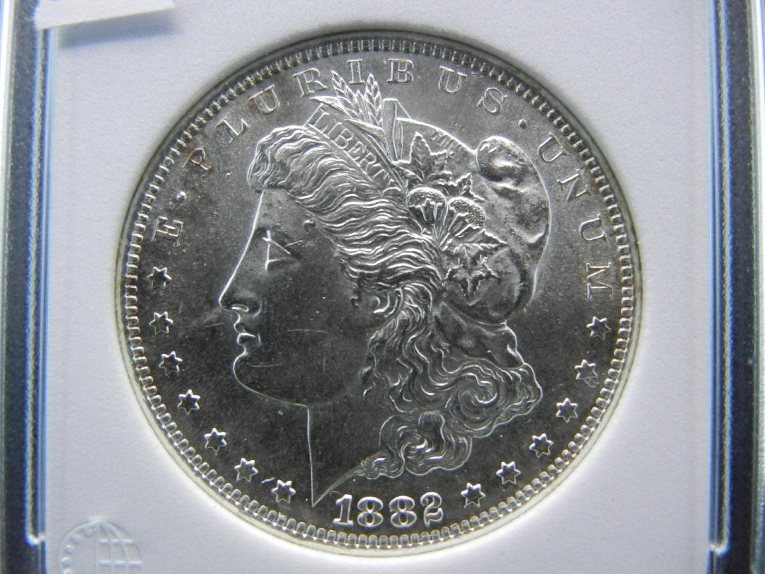1882-S Morgan Dollar. Graded MS-65 by Numismatic Coin - 2