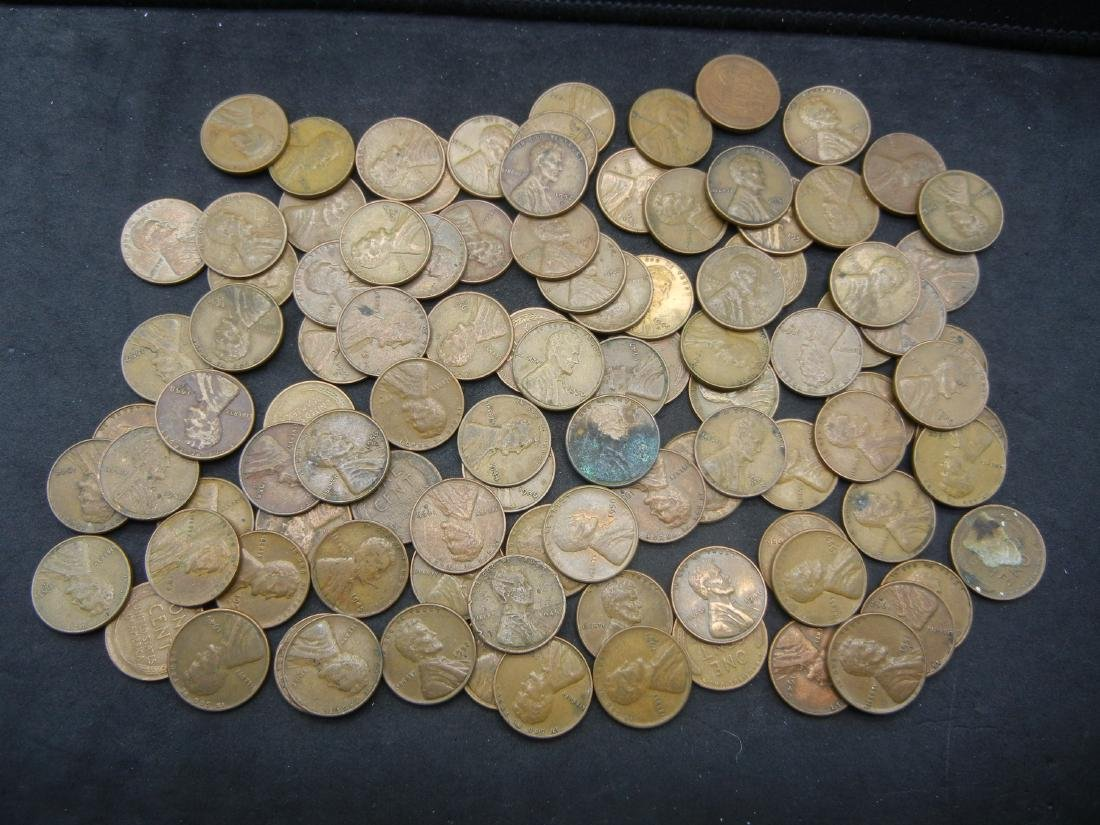100 Lincoln Wheat Cents.