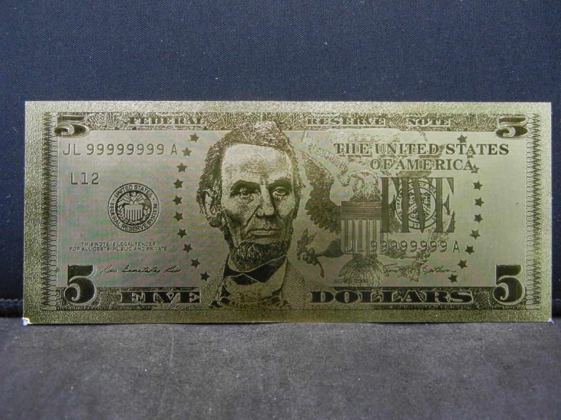 $1 & $5 Gold Foil Novelty Notes - 4