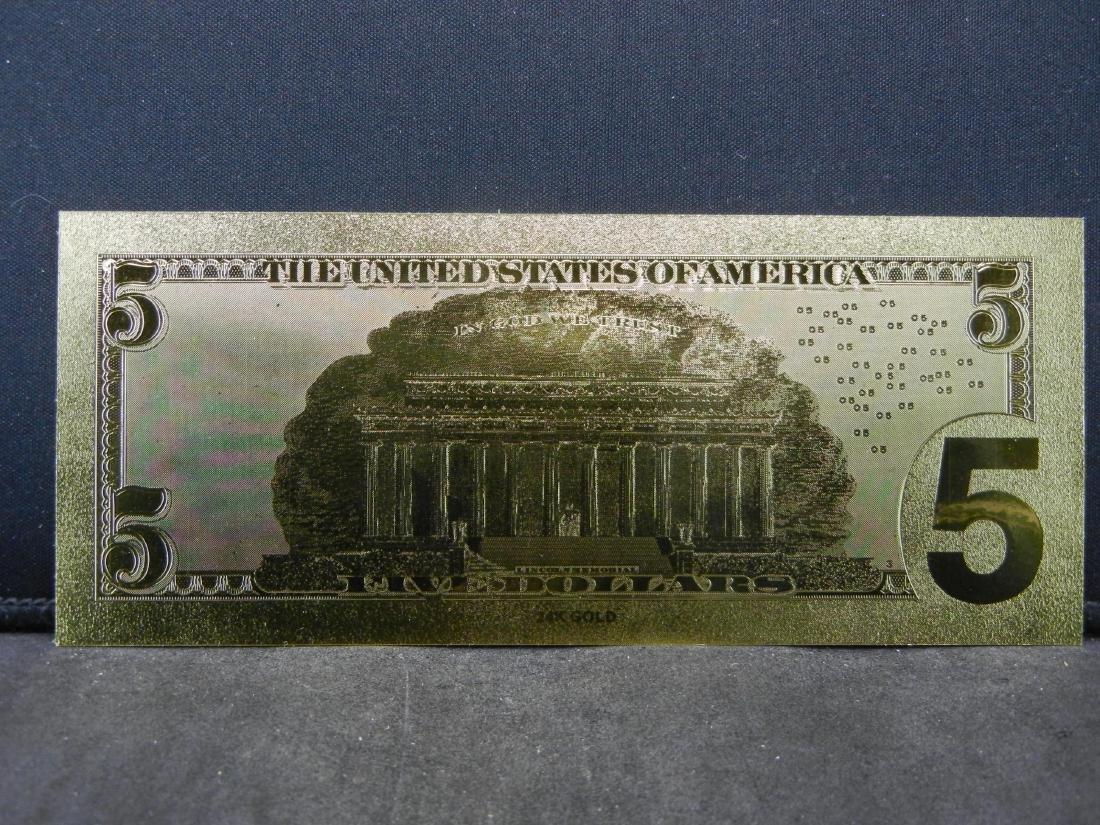 $1 & $5 Gold Foil Novelty Notes - 5
