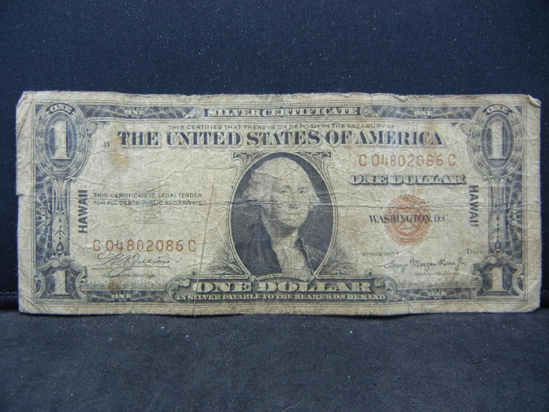 1935 A HAWAII Emergency $1. RARE to Find.